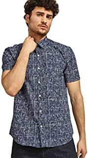 DJ&C By fbb Men's Printed Regular Fit Casual Shirt