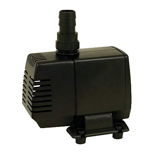 TetraPond Water Garden Pump, Powers Waterfalls/Filters/Fountain Heads, 50 to 500 Gallons