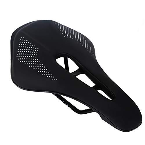 Robasiom - Sillín de bicicleta cómodo, impermeable, para hombres y mujeres, cojín transpirable para bicicletas de montaña, bicicletas de carretera, bicicleta de ejercicio y bicicletas al aire libre