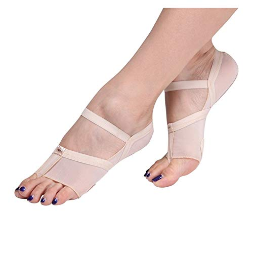 SHIZHI Belly Ballet Dance Toe Pad Protection Pretty Shoes Pie Thong Zapatos de Baile Pies Cuidado Metatarsal Freefoot Lyrical (Color : Size S(34 35))