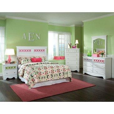 Hot Sale Standard Furniture My Room 5 Piece Headboard Bedroom Set In White