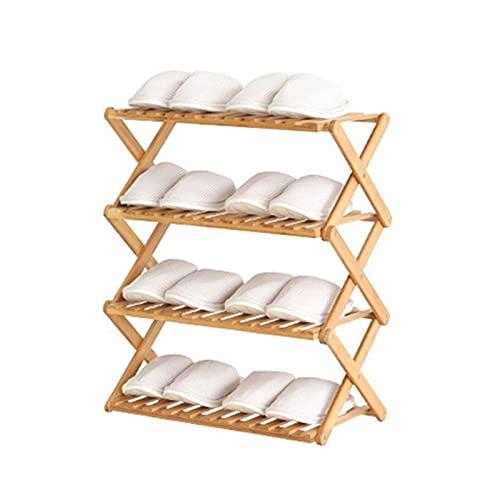 Zapatero Rack de zapatos de múltiples capas Simple Multifuncional Saving Saving Shelf Zapatillas plegables Soporte de almacenamiento para la sala de estar pasillo Caja de zapatos ( tamaño : Medio )