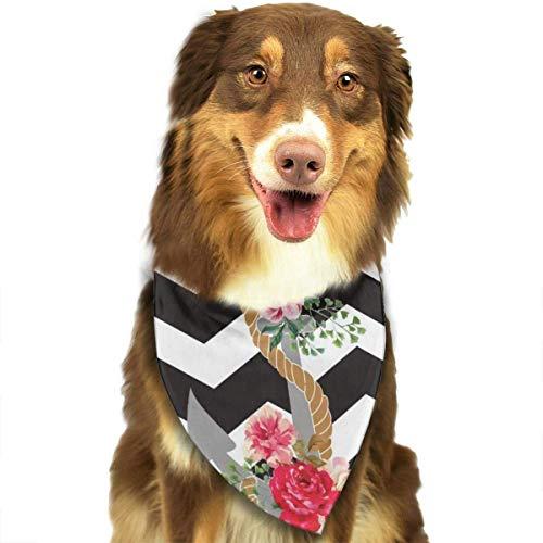 Collares de Bandana para Perros náuticos con Anclas Rosas, pañuelo Triangular, Baberos, Bufandas, Accesorios, Gatos y Cachorros, Toalla de Saliva