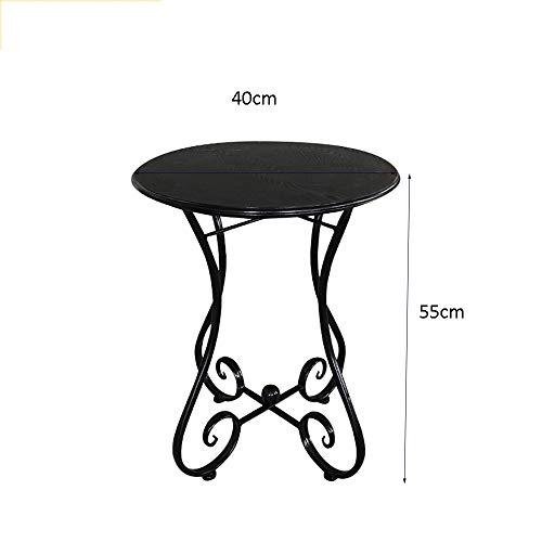 Hairong smeedijzeren houten salontafel casual kleine ronde tafel,40 * 55CM, 47 * 55CM, 55 * 65CM