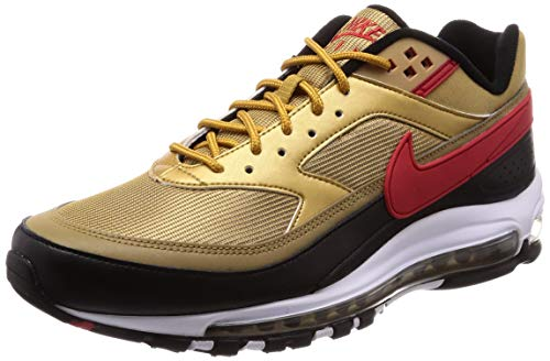 Nike Herren Air Max 97/bw Laufschuh, Metallic Gold/University Red-White-Black, 40 EU