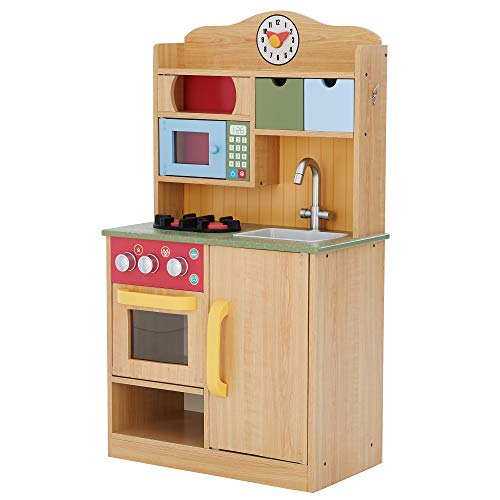 Teamson Kids - Little Chef Florence Classic Kids Play Kitchen | Toddler Pretend Play Set with...