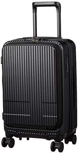 [イノベーター] スーツケース 機内持込サイズ スリムフロントオープン 多機能モデル INV50 55 cm ジェットブラック