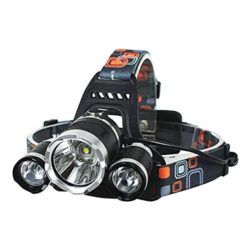 Metyoumeat Linterna Cabeza,Faro Recargable con 3 Luces 4 Modos,lámpara LED súper Brillante de 3000 lúmenes,Faro Impermeable IPX5,Correr,pasear Perros,Andar en Bicicleta,Acampar,Pescar