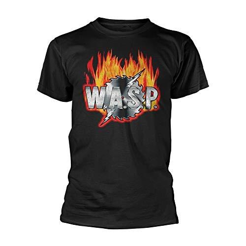 W.A.S.P. Sawblade Logo Tee T-Shirt Mens Black 3XL