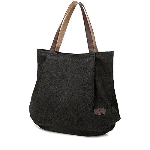 Lienzo Tote Bolsa Para La escuela Trabajo Viajes Y Shopping Simple Vintage Bolso de mano Bolsa de hombro Shopper Hobo Bolsa Para Mujeres Chicas