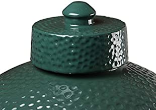 Ceramic Damper Top for Medium Large and XLarge Big Green Egg,Dual Function Ceramic Grill Top Damper,Kamado Accessories Charcoal Grill Top Parts Replacement for Easy Grasp and Anti-Hot