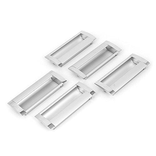 DealMux rectangular uñeros del gabinete del cajón del armario correderas manija de la puerta 5 piezas