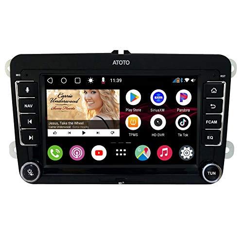 [para Volkswagen/VW] ATOTO S8 Pro S8VWA75P,Android Coche en el Tablero de vídeo y navegación,Dual BT con aptX HD, teléfono Link, Pantalla QLED,VSV Aparcamiento, 512 GB Soporte SD,de Carga y más QC3.0
