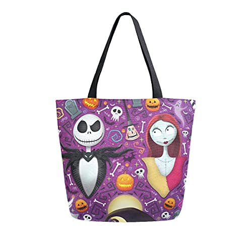 Dead The Nightmare Before Christmas Shoulder Tote Bag Purse Top Handle Satchel Handbag For Women Work Shopping Casual