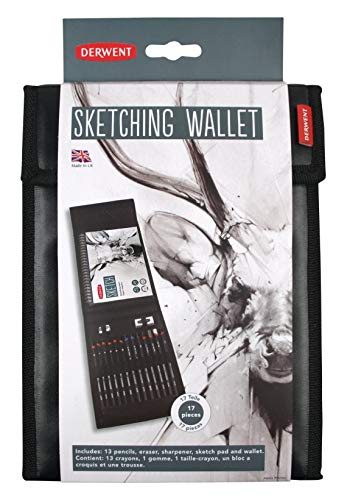 Derwent Sketching Wallet, 17 Pieces Per Set (2300218)