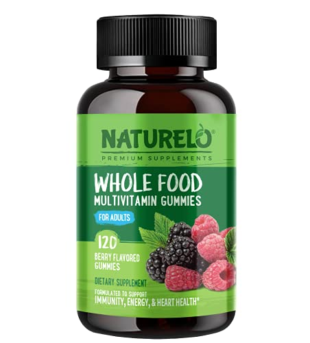 NATURELO Whole Food Vitamin Gummies for Adults - Chewable Gummy Multivitamin for Men & Women - 120 Vegan Gummies (Packaging May Vary)