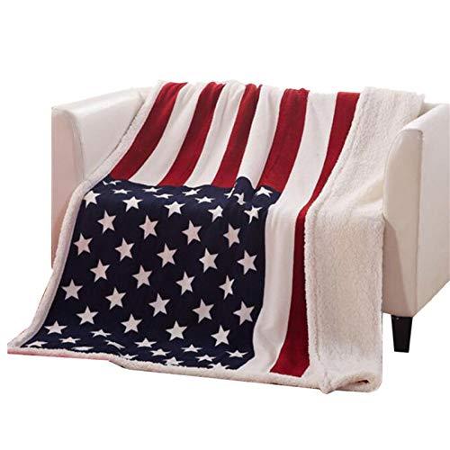 Althuria Coperta con Motivo Bandiera Americana, Coperta Stile Bandiera Americana Coperta Super...