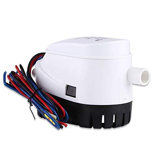 12V 750GPH Automatische Bilgenpumpe Wasserpumpe Automatic Bilge Pump Bilgepump Tauchpumpe mit Schwimmerschalter für Boot