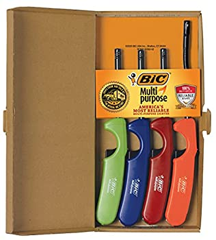 Bic Multi-purpose Lighter Classic & Flex Wand 4 Pack