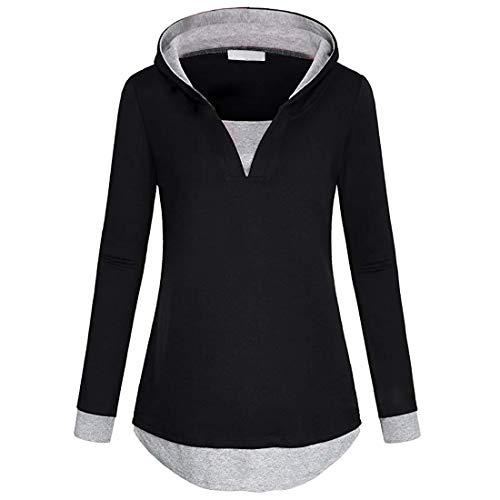 ZGRNPA Women's Long Sleeve Casual Lightweight Sweatshirts Tunic Shirt Cowl Neck Jumper Women's Hoodie Top Casual Hoodies Solid Color Hooded Sweatshirt Jumper with Pockets Women's Hoodie
