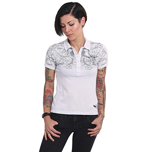 Yakuza Damen Ornamental Skull Pikee Polo Shirt