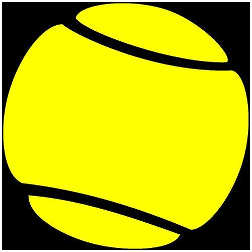 Samunshi® Autoaufkleber Tennisball Aufkleber in 7 Größen und 25 Farben (25x25cm gelb)