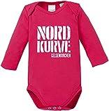 EZYshirt® Nordkurve auf Schalke Baby Body Langarm Bio Baumwolle