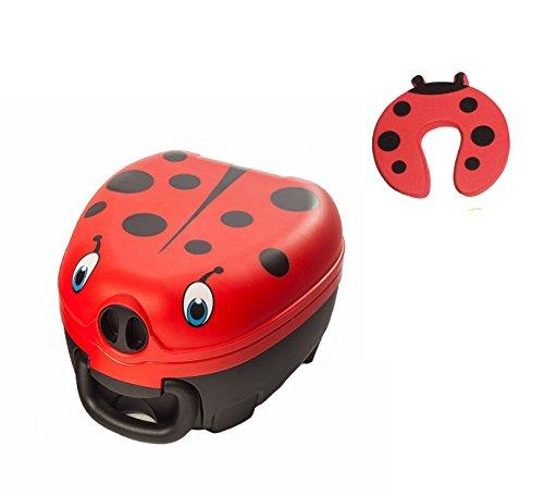 My Carry Potty - Leakproof, Lightweight & Portable - Ladybird Design Plus Ladybird Doorstop Package