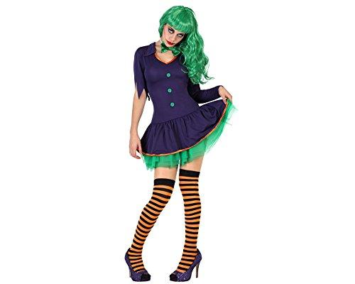 Atosa 22676 - traje del payaso, tamaño ML, púrpura/verde