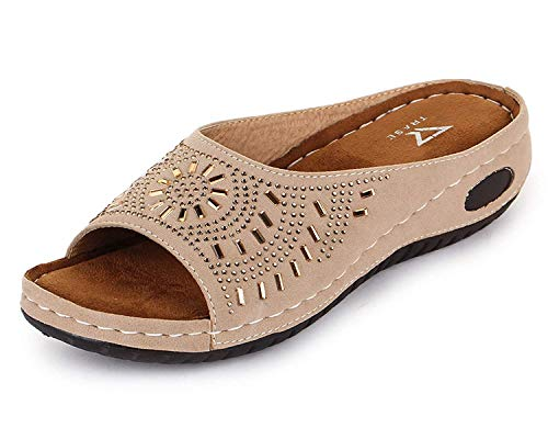 TRASE Women's Fashion Slipper - 6 IND & UK