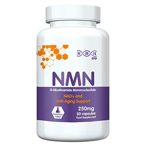 NMN Bio - 99% Pure Beta Nicotinamide Mononucleotide Capsules - 250mg Powerful Anti-Aging Supplements - Revolutionary Vitamin B3 Derivative - Support Your Healthy Aging - 30 Capsules