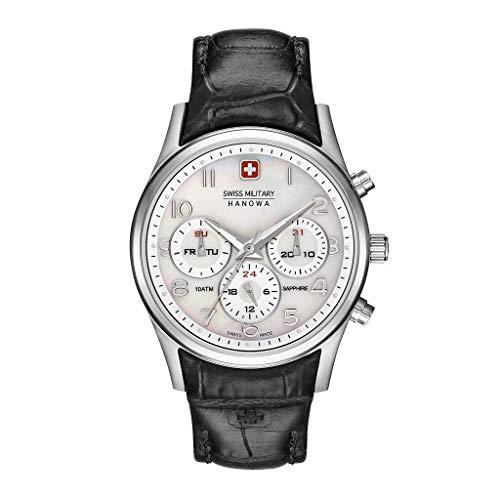 Swiss Military Hanowa Reloj Analógico para Mujer de Cuarzo con Correa en Cuero 06-6278.04.001.07