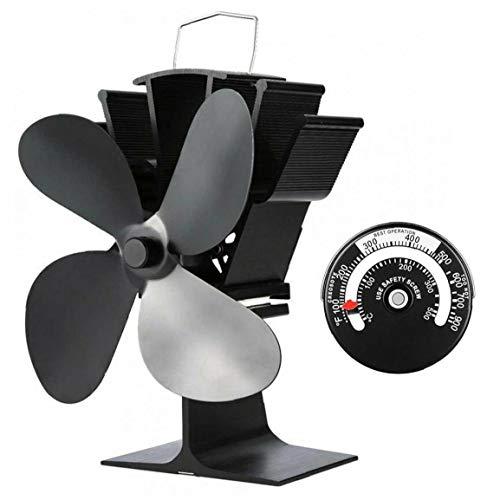 Burner Stoves Fan Four Leaf Wood Burning Stove Fan Ecological Fireplace Fan for Wood Log,Burner Stoves