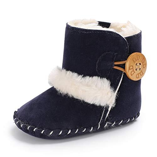 EDOTON Botas de Bebés Unisexo Zapatos Primeros Pasos Invierno Soft Sole Botas Suaves de Nieve...