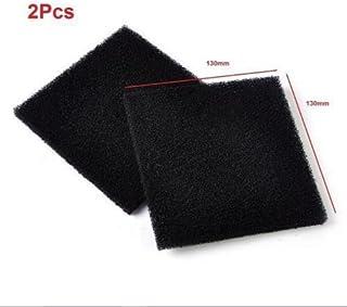 2spugne a carbone attivo universali, filtro per l'aria, di colore nero