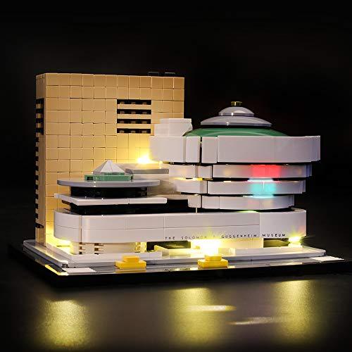 LIGHTAILING Licht-Set Für (Architecture Solomon R. Guggenheim Museum) Modell - LED Licht-Set Kompatibel Mit Lego 21035(Modell Nicht Enthalten)