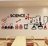 Ciencia escuela primaria aula cultura diseño química laboratorio equipo sala acrílico etiqueta de la pared decoración Stickers muraux