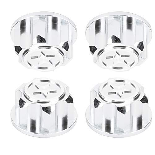 4-teilige RC-Radnabenkappe, robuste Staubabdeckung aus Aluminiumlegierung für Traxxas X-Maxx 1/10 RC-Auto-Upgrade-Zubehör(Silber)