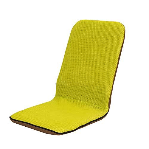LJFYXZ Chaise de Sol Seul Petit canapé Mesh Respirant Léger et Portable Fauteuil Informatique Non Ajustable (Couleur : Green)
