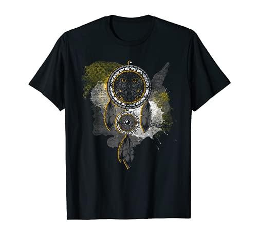 Atrapasueños de búhos indios nativos americanos Camiseta