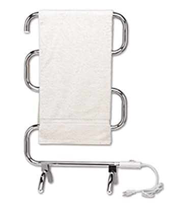Jerdon Warmrails Mid Size Wall Mounted or Floor Standing Towel Warmer, 37.5-Inches