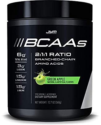 JYM Supplement Science, BCAAs, 2:1:1 Ratio, Branch Chain Amino Acids, 40 Servings, Green Apple