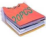 Organisateur d'armoire,Organiseur de Vêtements Placards,Chemise Fichier Rangements,Organiseur de vêtements ou de Documents,Closet Organizer, Organiseur de T-Shirt ( pack de 20)