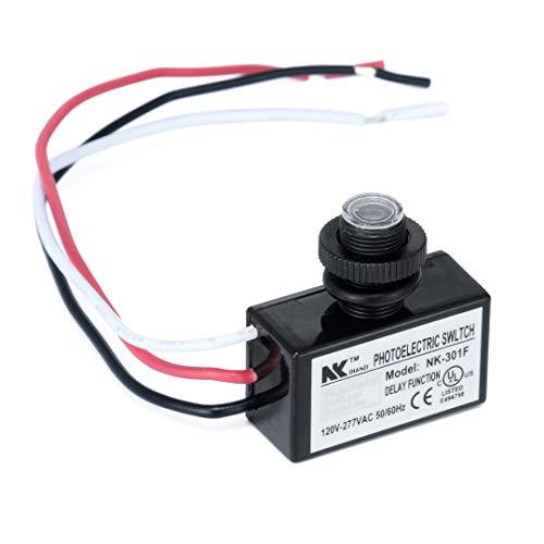 MAYE2021 AC80~277V de Montaje Empotrado fotocélula anochecer hasta el Amanecer del Interruptor Interruptor de Control de la luz del Sensor de Fotos for la Herramienta del Interruptor de luz LED GUOD