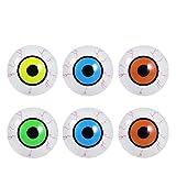 LUOEM Halloween Eyeballs LED Light Up Scary Eyeballs Halloween Horror Props Costume Plastic Eyeballs for Halloween Party Coplay Supplies,Pack of 6