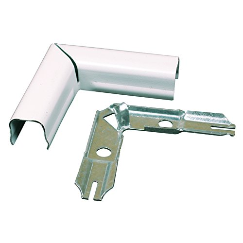 Wiremold Metal Raceway, Extending Power, On-Wall, Flat Elbow, White, BWH6