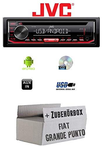 FIAT Grande Punto 199 - Autoradio Radio JVC KD-T402 | CD | MP3 | USB | Android - Einbauzubehör - Einbauset