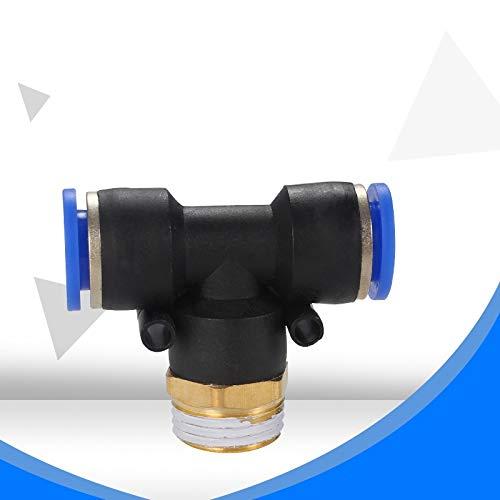 WSF-JIETOU, 1pc regulador de flujo de aire neumático 4 mm 6 mm 8 mm 10 mm 12 mm OD TUBO DE MANGUERA DE GAS Conector de válvula de ajuste 1/8'1/4' 3/8'1/2' Hilo masculino (Color : PB8 03)