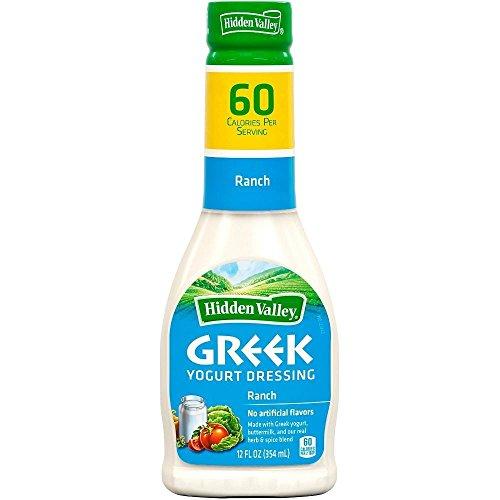 Hidden Valley Greek Yogurt Dressing: Ranch (Pack of 2) 12 oz Bottles