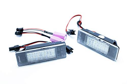 2 x Feux plaque d'immatriculation LED pour N. qashqai Juke canbus